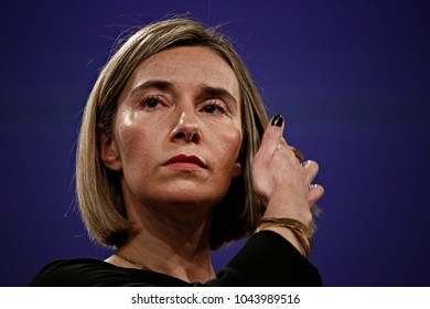 High Representative of the EU for Foreign Affairs and Security Policy and Vice-President of the European Commission Federica Mogherini gives a press conference in Brussels, Brussels on Jan. 25, 2017
