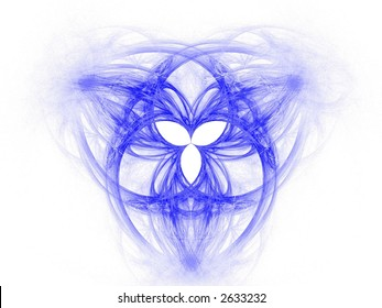 High res flame fractal forming the celtic symbol of the Holy Trinity