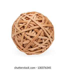 High res rubberband ball with soft shadow. Isolated on white with clipping path.