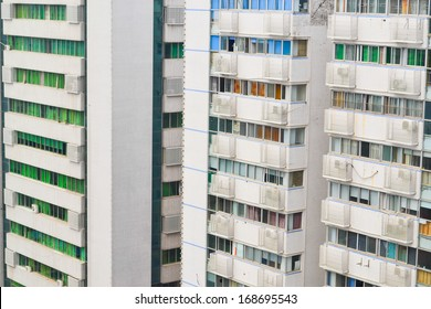 high residential building in city