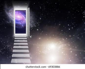 High Resolution 3D Illustration Entrance Exit