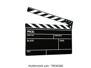 High resolution 3d render of an clapperboard with right stop / clapperboard / isolated on white