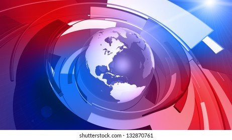 High resolution 3D render of Earth globe with abstract shapes rotating around. ** There is also a video animation version of this in my portfolio.