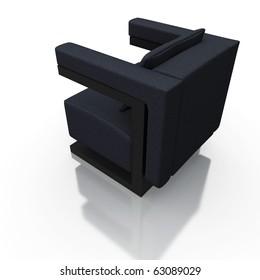 high resolution 3d render of a modern chair