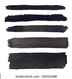 High resolution abstract black watercolor lines for your project