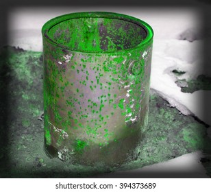 high resolution abstract grunge on metal background texture green shade