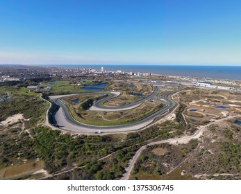 High resolution aerial image of race track