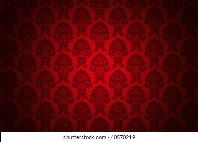 high resolution background wallpaper with fine detailed red ornaments