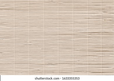 High Resolution Bamboo Rustic Place Mat Slatted Interlaced Coarse Texture Detail