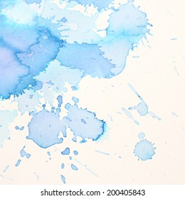 high resolution, beautiful blue abstract watercolor background