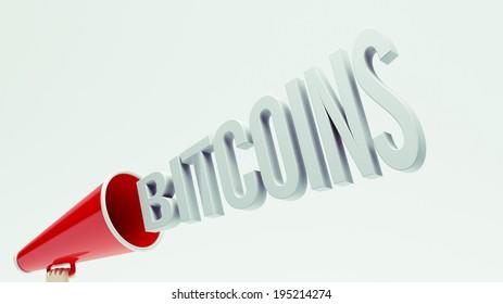 High Resolution Bitcoins Concept