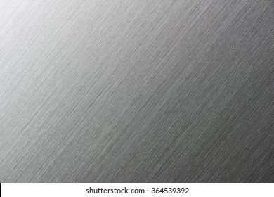 High resolution brushed metal or textured metal, with deep grooves. Intentionally highlighted on upper left hand corner. Diagonal texture. Sharp to the corners.