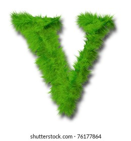 High resolution conceptual green grass font isolated o white background,ideal for summer,spring or ecology designs