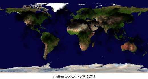 High Resolution Earth Continents Flat World Stock Photo Edit Now