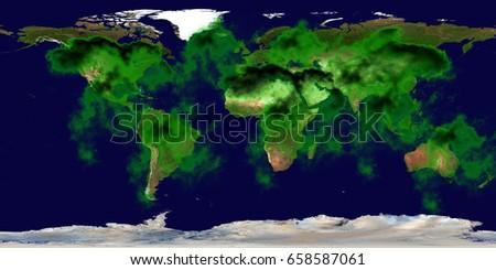 High resolution Earth contamination