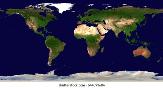 High resolution Earth continents flat world map from space. Elements of this image furnished by NASA.