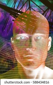 High Resolution Future Man  3D Render