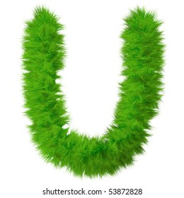 High resolution grass font isolated on white background