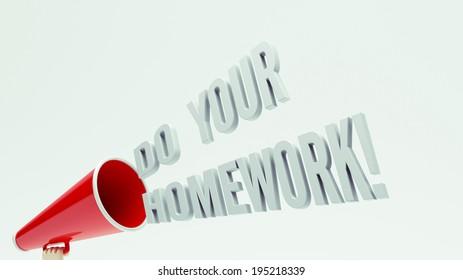 High Resolution Homework Concept