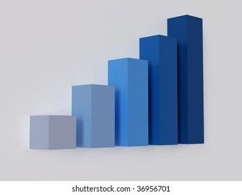 High resolution image diagram. 3d illustration over  white backgrounds.