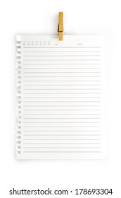 High resolution isolated  notepad with clipping path