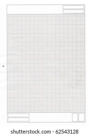 High resolution old grunge paper texture with grid, top view