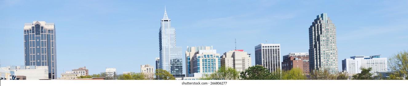 High resolution panorama of downtown Raleigh, NC