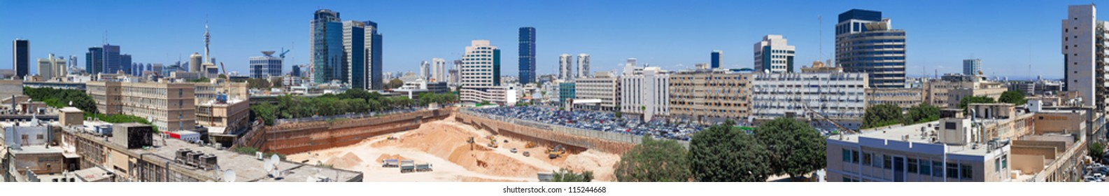 High resolution panorama of Tel-Aviv city. Israel.