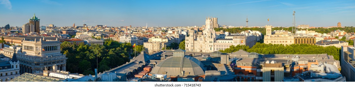 High resolution panoramic view of the city of Madrid