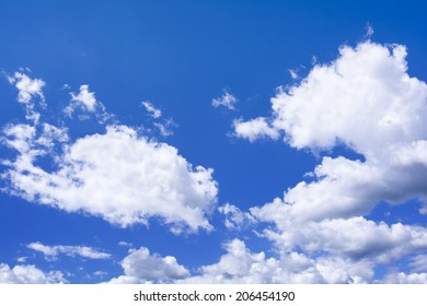 High resolution photo of cumulus clouds against a blur sky. Great background image for composites.