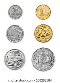 High resolution photo of current Australian coins