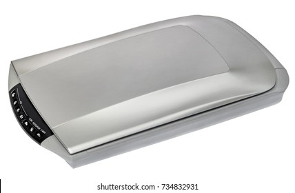 High Resolution Photo And Document Flatbed Scanner Isolated On White Background