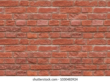 High resolution red seamless brick wall texture pattern background. Seamless worn style traditional red brick wall background. Red brick wall pattern worn texture. Worn style seamless brick wall