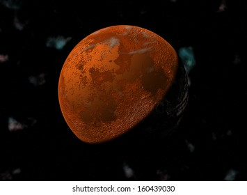 High resolution of rendered planet Mars