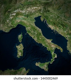 satellite map of italy High Resolution Satellite Image Italy Italy Stock Photo Edit Now