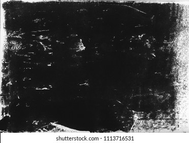 A high resolution scan of a black and white distressed lino print texture. Ideal for use as a background texture.