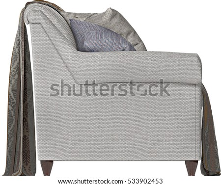High Resolution Sofa Side View Elevation Stock Photo Edit Now