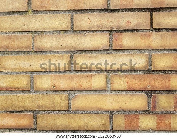 High Resolution Texture Yellow Brick Wall Stock Photo Edit Now