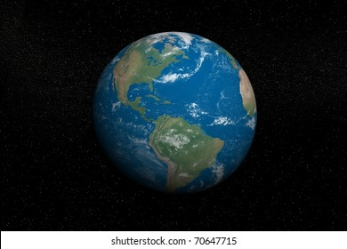 High resolution view of Earth in Space