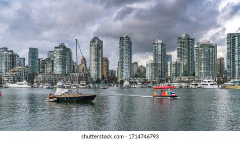 High resolution waterfront view of downtown Vancouver, BC, Canada