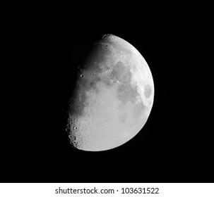 High Resolution Waxing Moon