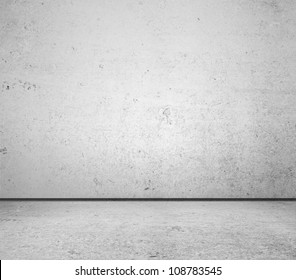 High resolution white concrete wall and floor