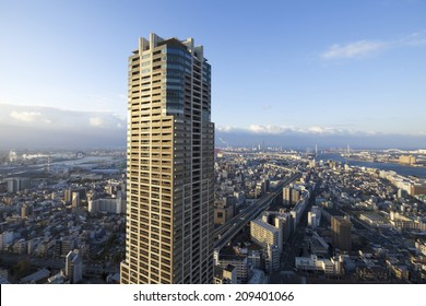 The High Rise Apartment And The Village Of Osaka Minato-Ku
