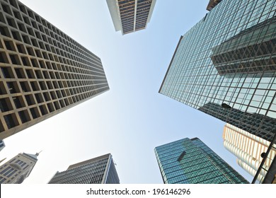 High rise building to sky