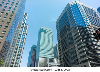 High -rise buildings at Otemachi Tokyo Japan
