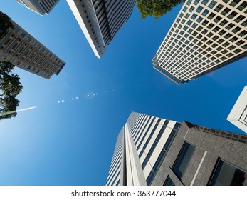 High rise buildings in Tokyo