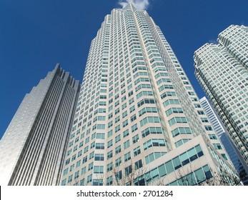 high rise financial buildings