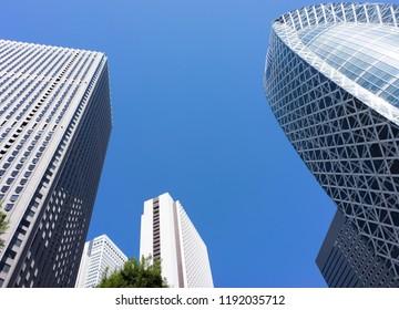 high rise office buildings at shinjuku tokyo