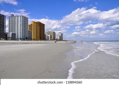 high rise resort condos on beach