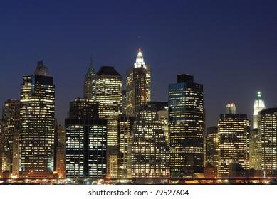 High rises along Lower Manhattan in New York City.